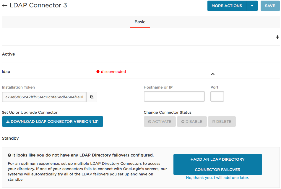 download LDAP connector