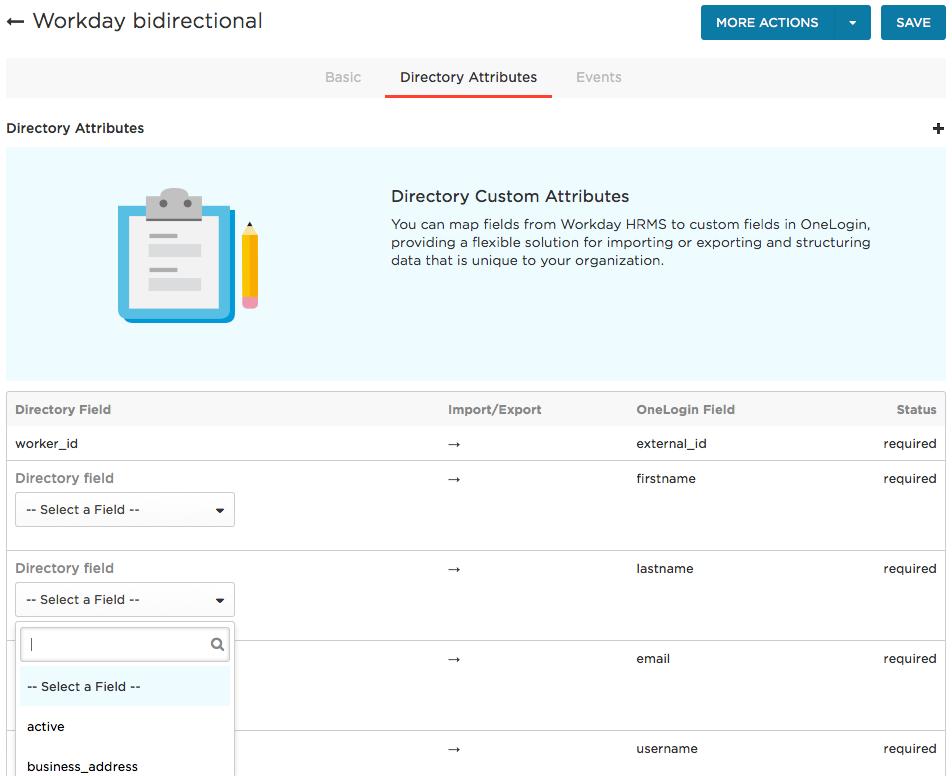 directory attributes tab