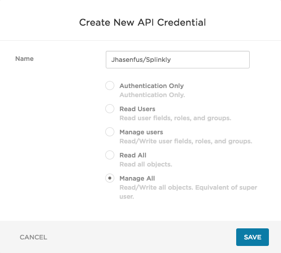 API Credentials: Creating, Viewing, Deleting & Disabling API