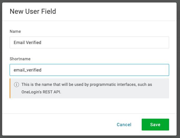 Email Verified Custom Attribute