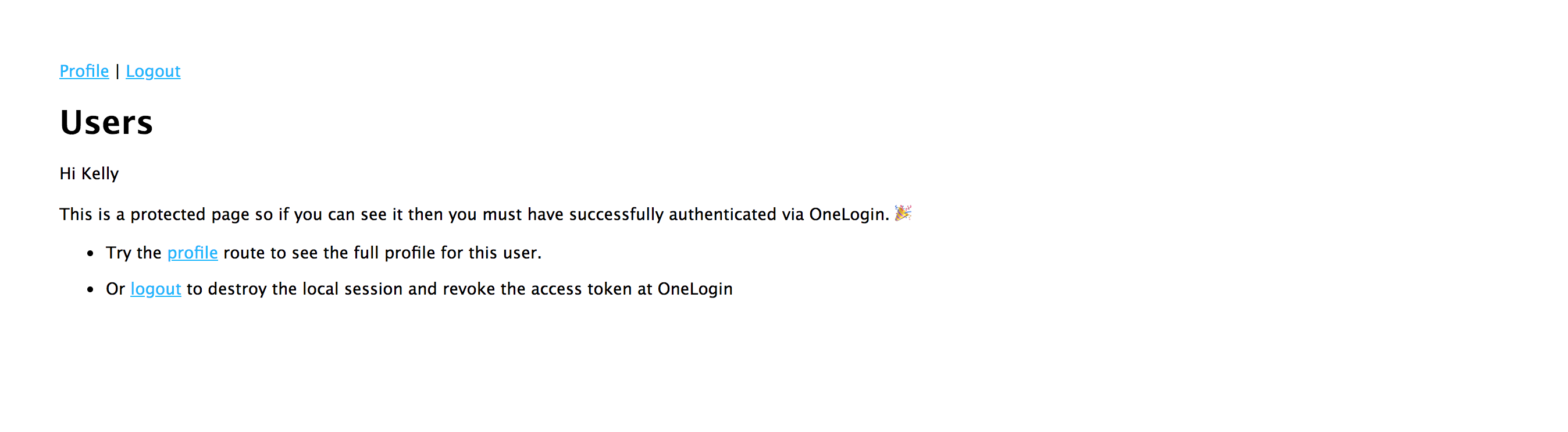 Login Success