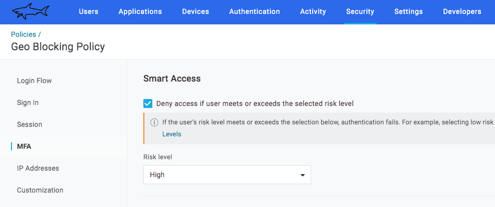 Enable Smart Access